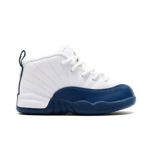 02037b31e0f Nike Air Jordan 12 Retro BT French Blue Toddler White 850000-113 ...