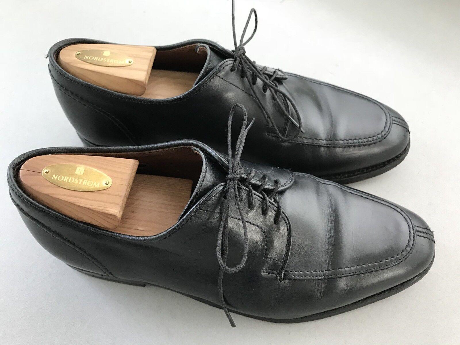 Allen Edmonds Lasalle Split Toe Lace Up Black Dress shoes Size 8.5 EEE Wide