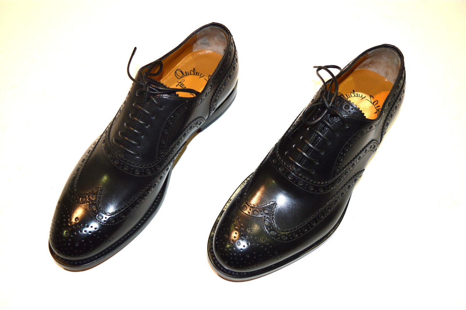 NEW SANTONI Dress Black Leather shoes  SIZE Eu 40.5 Uk 6.5 Us 7.5 (2R)