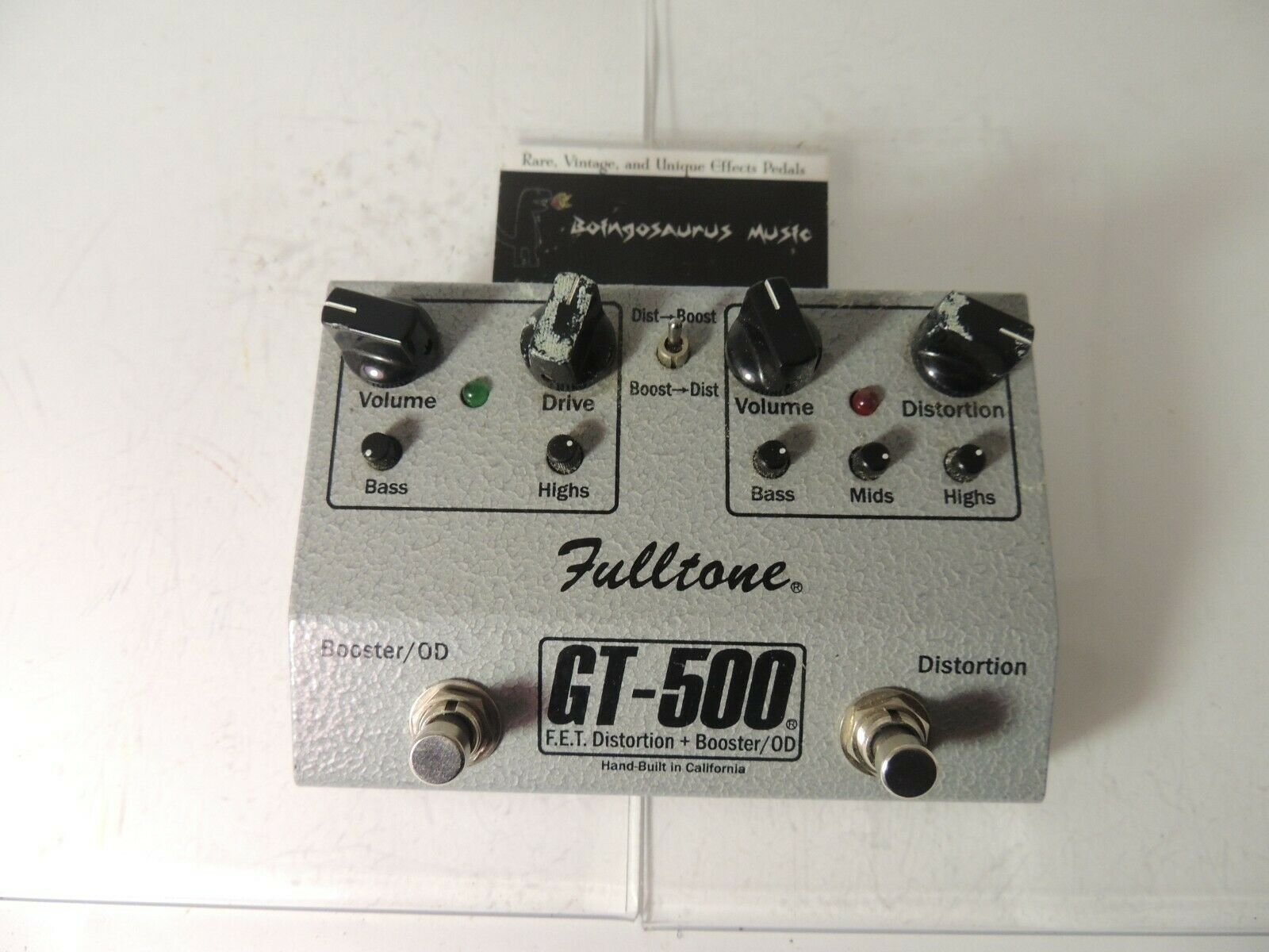 Fulltone GT-500 Distortion and Boost Effects Pedal Booster Free USA Shipping