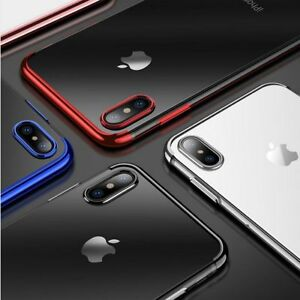 Slim-Thin-Clear-Case-Cover-Soft-Electroplating-TPU-For-iPhone-X-8-7plus-6Plus-6s