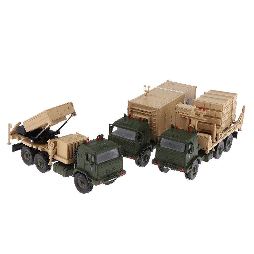 1 72 Tank Set de 3 Iron Dome Israel Missile Defense Lanceur Radar Camion