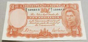 1939 Australia 1st 10 Shillings George VI R12 SHEEHAN/McFARLANE aEF E/1 509813