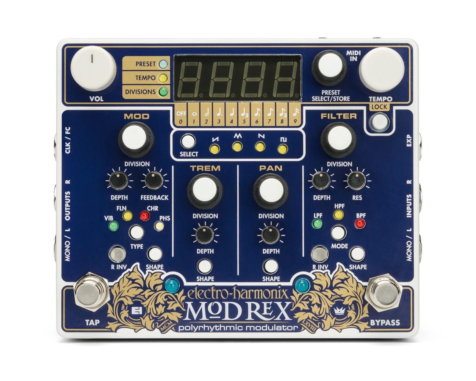 Electro Harmonix Mod Rex Polyrhythmische Modulator Pedal, Gute