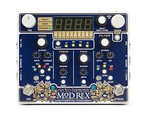 Agressif Electro Harmonix Mode Rex Polyrhythmic Modulateur Pédale, Neuf En Boîte