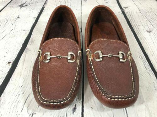 BUFFALO JACKSON Brown BISON Leather Slip On Bit Lo