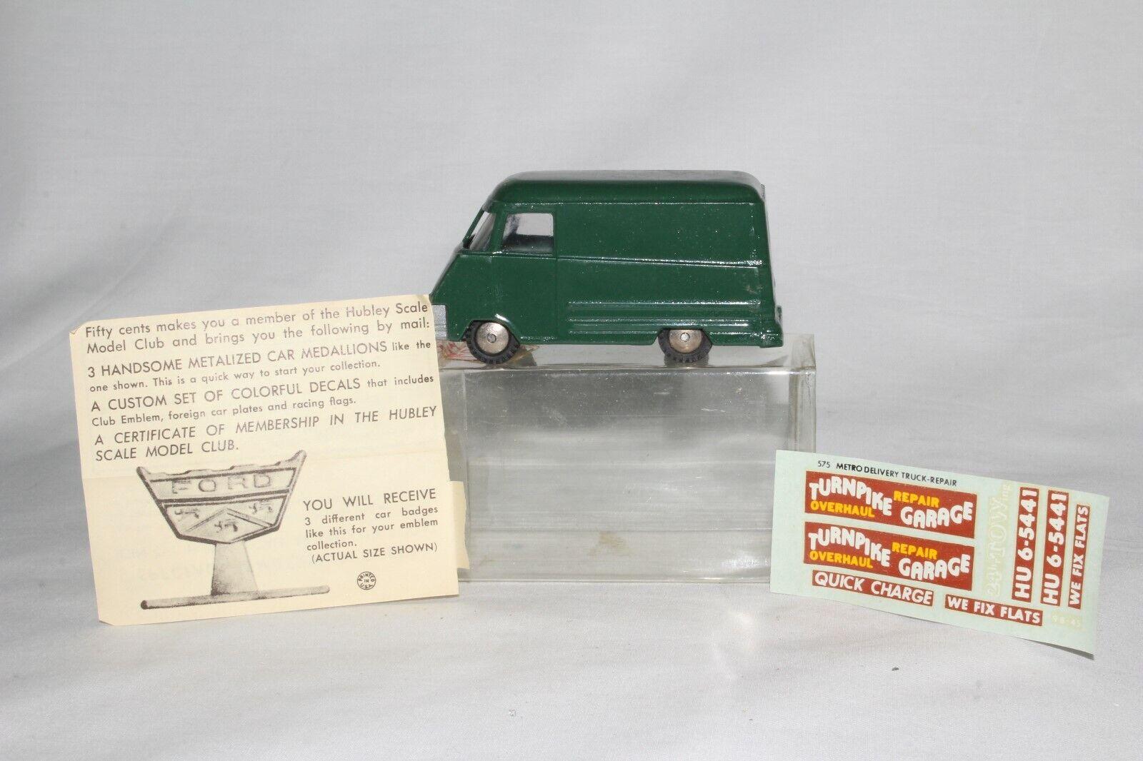 Hubley Real De Juguete, 1960 Camión de Metro Internacional, en Caja, agradable Original  1