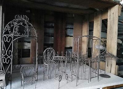 Urban Gardening Puppenhaus Möbel Gartenmöbel Metall 1:12 1//12 Metall Elfengarten