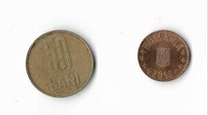 IngéNieux Roumanie Monnaie De 50 Bani 5 Bani-afficher Le Titre D'origine Qualité Et Quantité AssuréE