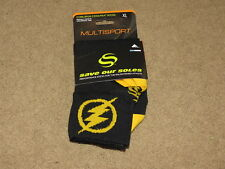 "Save Our Soles DUSK TO DAWN 7/"" Tall Cuff Cycling Bicycle Socks NAVY One Pair"