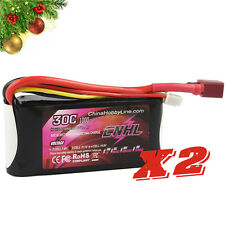 2 PACKS CNHL LI-PO 1000mAh 11.1V 30C(Max 60C) 3S Lipo Battery Pack for RC Hobby