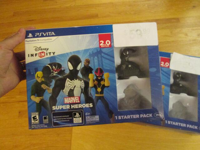 Disney Infinity 2 0 Marvel Super Heroes Ps Vita Black Suit Spider Man For Sale Online Ebay