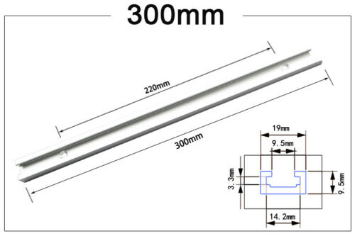 Aluminium 300-600mm T-Track T-Slot Miter Jig Tools For Woodworking Router