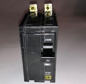 Square D QOB230 30 Amp 2 Pole Bolt-On Circuit Breaker 120//240v 10kA