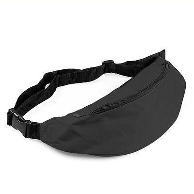 ISASSY Unisex Bum Bag Pack Hip Waist Festival Sport Money Zip Pouch Belt Wallet