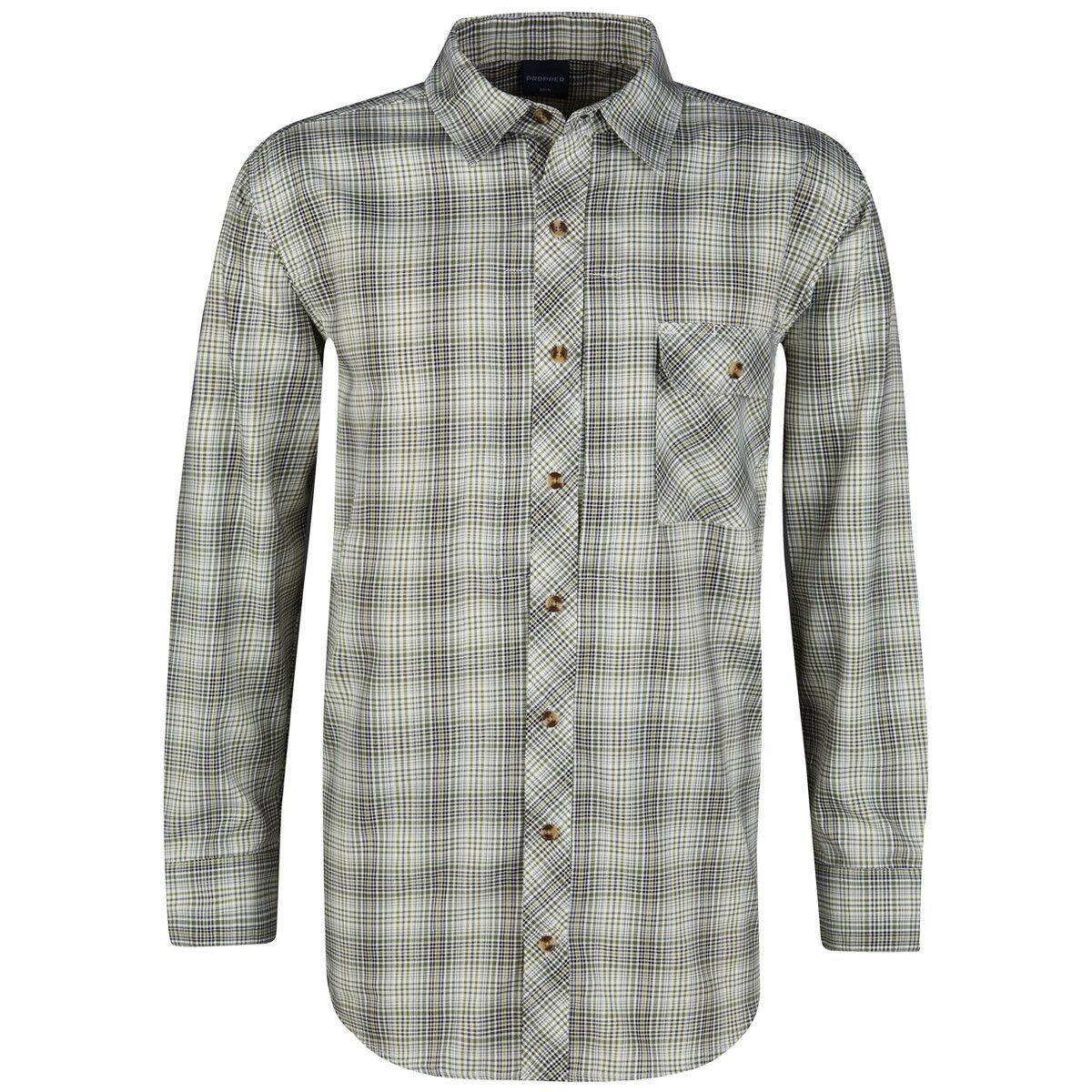 Propper CoGrün Schaltfläche-Up Beiläufig Herren Herren Herren Hemd Lange Ärmel Loden Grün | Hervorragende Eigenschaften  5ca0d1