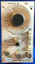 Tektronix Af501 Audio Frequency Bandpass Filter Amplifier And Oscillator