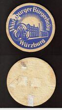 Alter BD - Bierdeckel - Beermat , Würzburger Bürgerbräu
