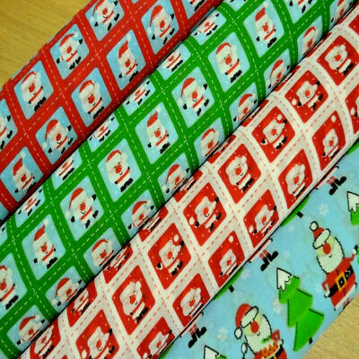 Polycotton Fabric Christmas Xmas Snowmen With Jackets /& Scarves Festive