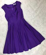Muxxn Womens Size XL Purple Dress Fit n Flare Pinup Rockabilly Swing Skirt H38