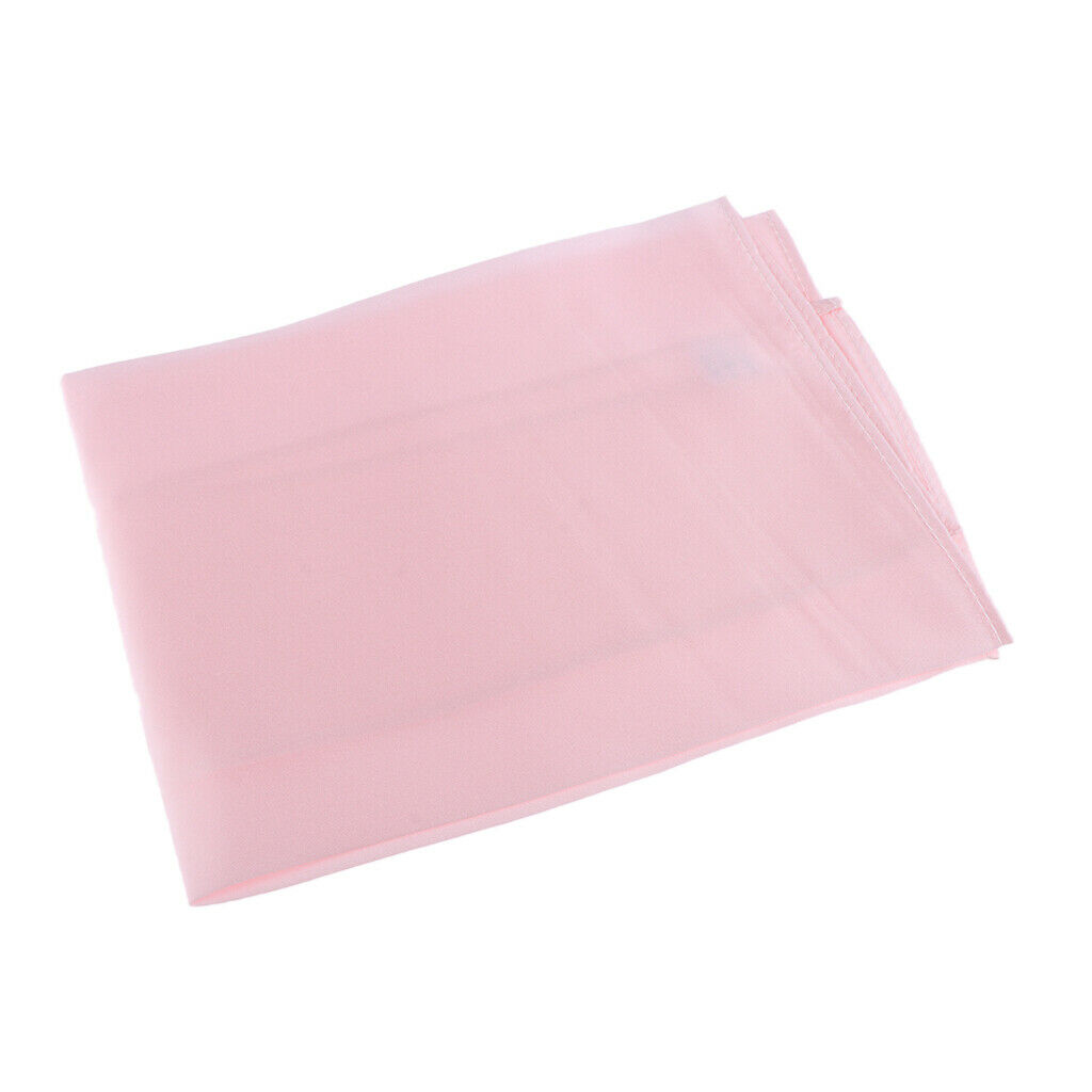 100% Mulberry Silk Pocket Square Plain Solid Handkerchief for Men Pink