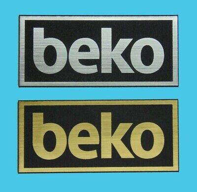BEKO logo,badge,decal,sticker,aufkleber silver or gold//black 56x24mm