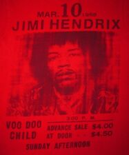 JIMI HENDRIX - VOO DOO CHILD - MARCH 10, 1968 - Men's size M - Graphic T-Shirt