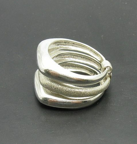 925 Sterling silber ring dreifach band lasar beendet ein R000342 EMPRESS