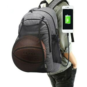 Men s Sports Gym Bags Basketball Backpack School Ball Pack Laptop ...