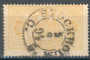 Schweden-Lot-mit-2-Dienstmarken-Mi-Nr-8Bbo-gelb-9Aa-gez-14o-MICHEL-75-00