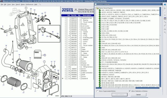VOLVO Penta EPC II 05 2015 Parts Manuals Software For All Volvo Engines -  DVD