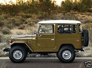 1977 Toyota LAND CRUISER FJ40, Jeep, Side View, Refrigerator Magnet