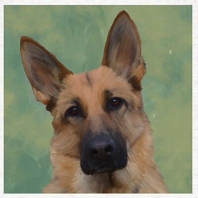 German Shepherd Alsatian Dog Fabric