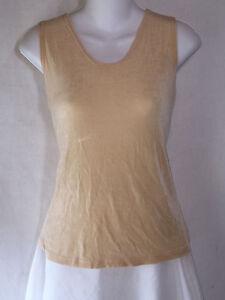 FLAX-Jeanne-Engelhart-Slinky-Travelers-Knit-Pullover-Tunic-Tank-Top-Shirt-Medium