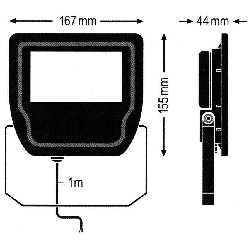 LED emisor exterior muro 5000lm exterior emisor Floodlight 230v 50w 5000lm muro 3000k ledvance 55f425