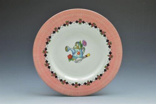 "Sakura Mary Engelbreit Cherries Red White Check 8/"" Lunch Salad Plate s"