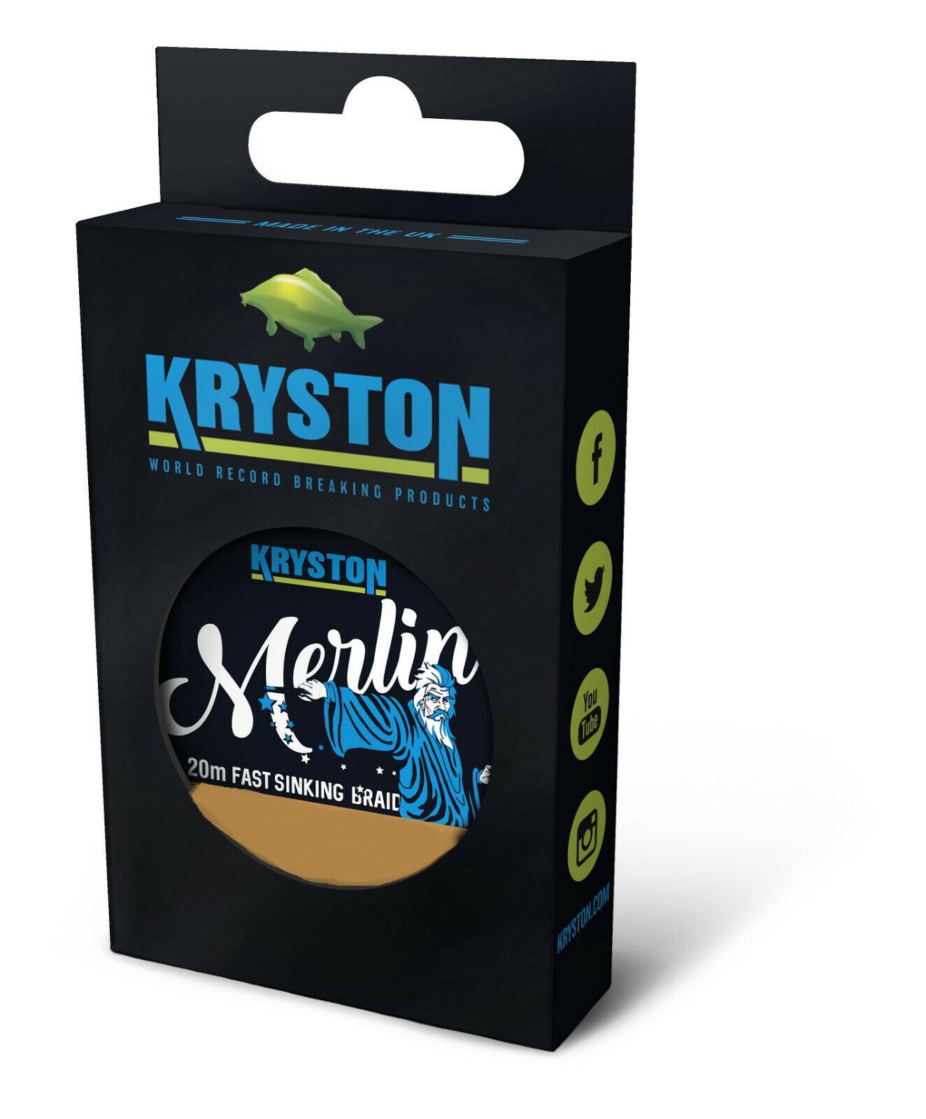 Kryston Merlin Fast Sink Supple Braid 20 m grün