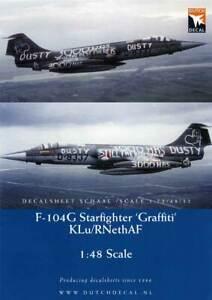 "Belle Dutch Decal 1/48 ""graffiti"" Lockheed F-104g Starfighter Klu/rnethaf. # 48046-afficher Le Titre D'origine"