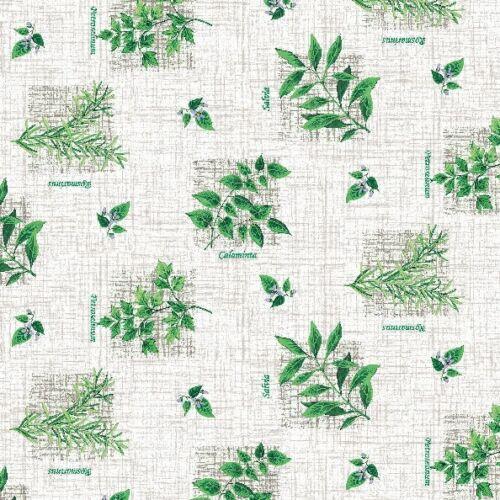 Toile Cirée Nappe Lavable herbes rectangulaire environ ovale c144091