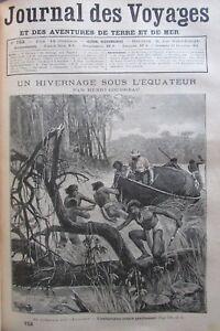 Zeitung-der-Voyages-Nr-753-von-1891-Explorer-Guyana-Spiegelcover-Hollaender