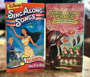 Details about BRAND NEW Disney Sing Along Songs: Zip-A-Dee-Doo-Dah & Colors  of the Wind