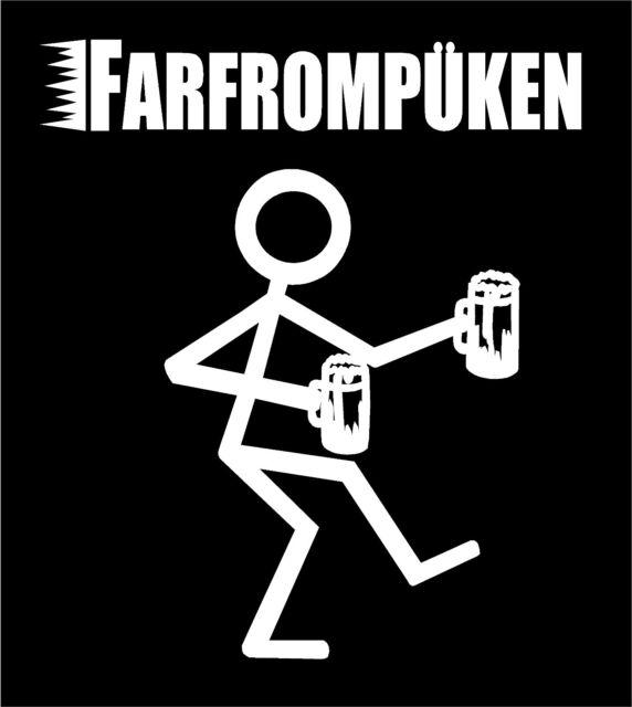 Vinyl farfrompuken decal funny beer drinking party car truck window sticker