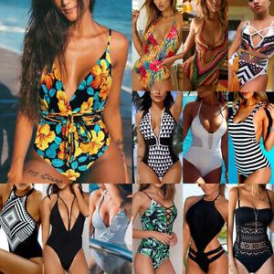 Women-One-piece-Swimsuit-Swimwear-Push-Up-Monokini-Bikini-Beachwear-Bathing-Suit