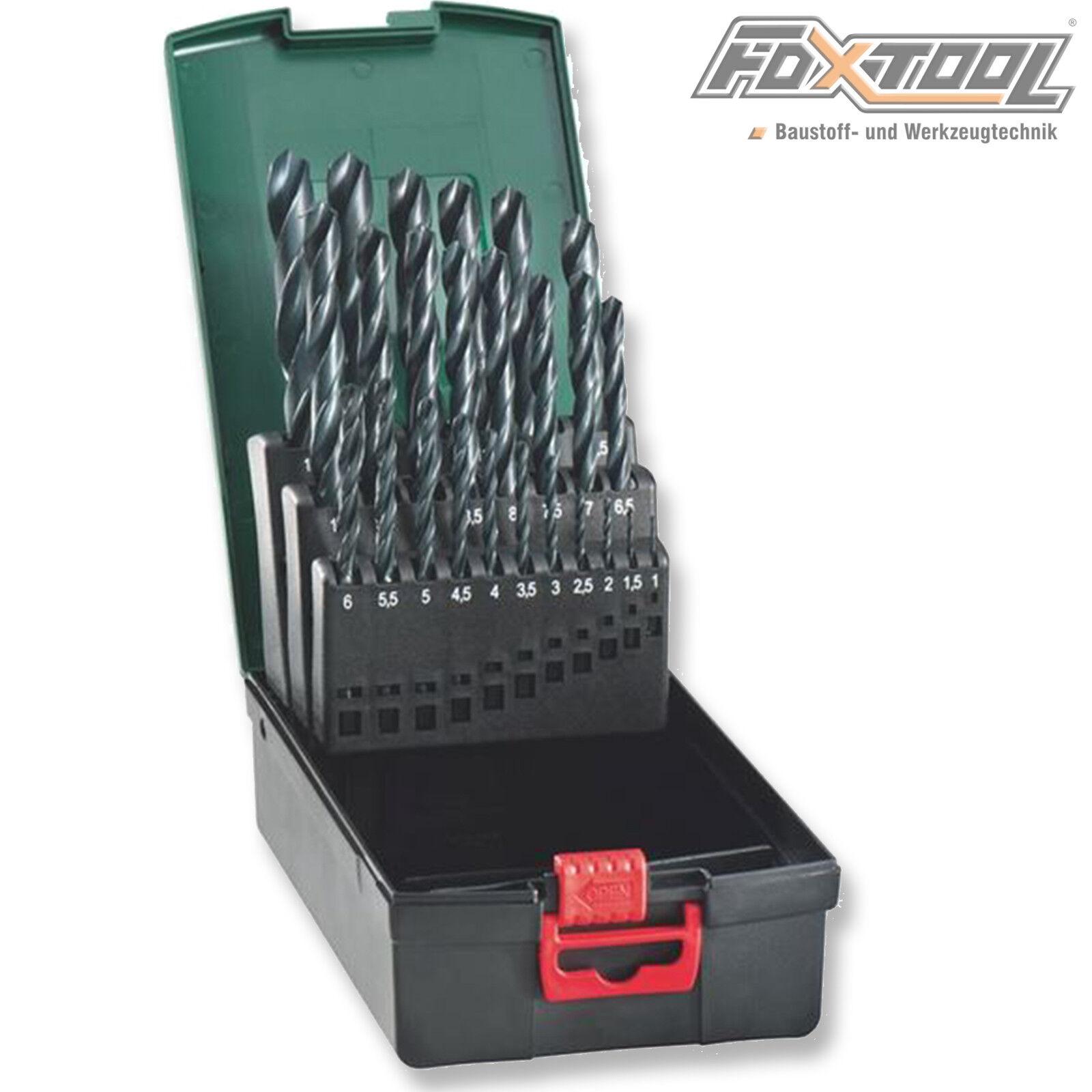 Metabo Metallbohrer-Box 25-tlg. HSS-R DIN338 Stahl Metall Bohrer