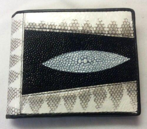 Genuine Python/&Stingray Wallets Skin Leather Bifold Men/'s Purses Bags Handmade