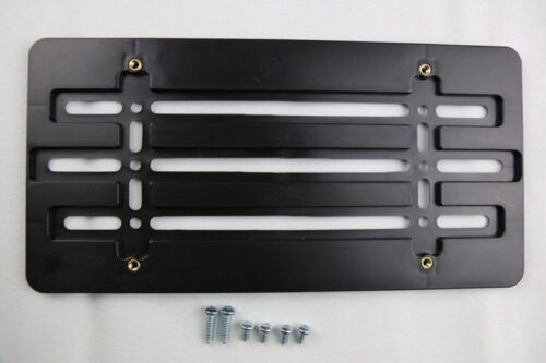 UNIVERSAL LICENSE PLATE TAG HOLDER MOUNTING ADAPTER BUMPER BRACKET for TRAILER