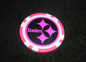 Image is loading NFL-PITTSBURGH-STEELERS-PINK -SOUVENIR-COLLECTIBLE-POKER-CHIP c0eed5fd8