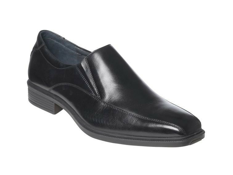 MENS HUSH PUPPIES MENTOR EXTRA WIDE BLACK FORMAL/DRESS/WORK/CASUAL/LEATHER SHOES