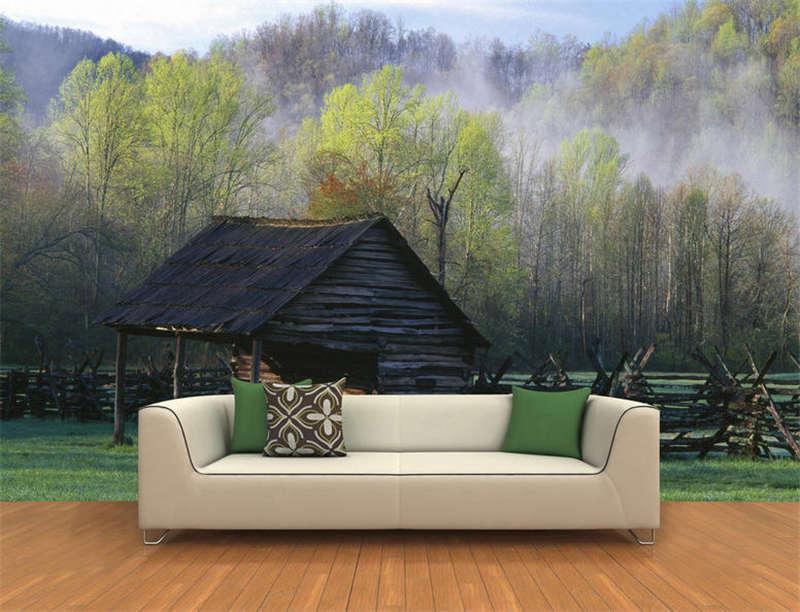 Smoky Mountains Farm Full Wall Mural Photo Wallpaper Printing 3D Decor Kids Home