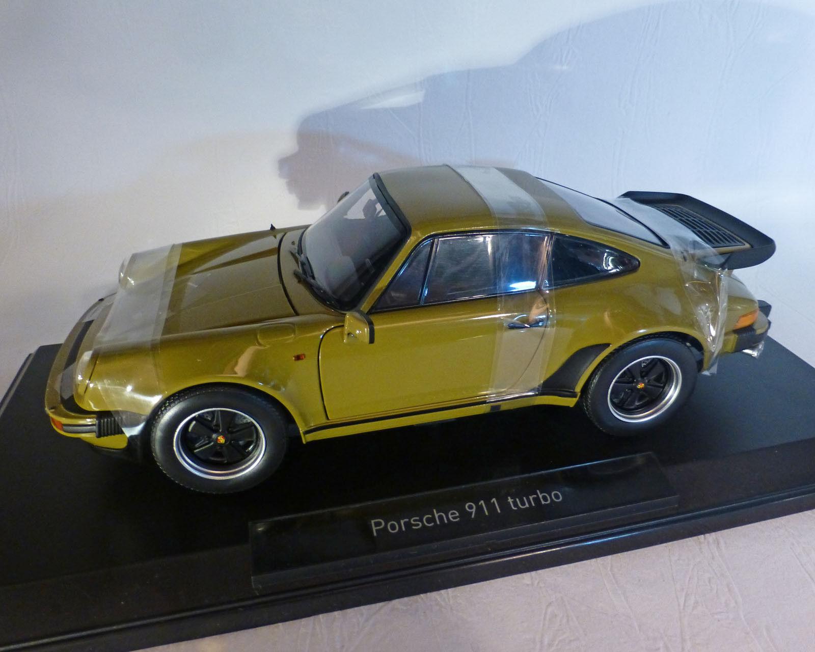 Porsche 911 turbo 3,3 L, 1977, verde oliva, 1 18 norev